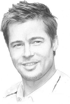 Brad Pitt pencil protrait by dianadesignscr