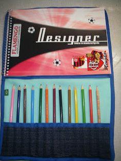 porta lápis e caderno personalizado