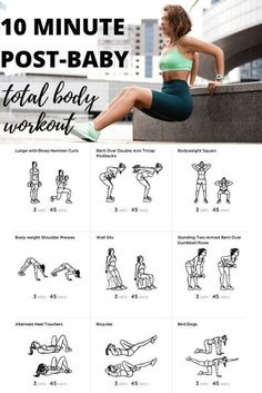 Don't have a lot of time then try this 10-minute full body post-baby workout to help you burn calories, build strength and lose weight. #postbabyweightloss #weightlos #weightlosstips New Mom Workout, After Baby Workout, Post Baby Workout, Post Pregnancy Workout, Boxing Workout, Postpartum Workout Plan, Fitness After Baby, Post Pregnancy Belly, Baby Pregnancy