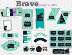 Brave Disney Pixar Birthday Party Invitation // DIY Printable Party Kit. $15.00, via Etsy.
