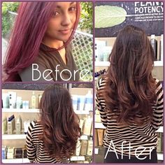 From violet purple > caramel ombre highlights on a dark brown base. Go for a natural look and get your hair prepped to perfection #transformation #beforeandafter #violet #purple #color #light #caramel #ombre #highlights #layers #haircut #wavy #blowdry #lightcaramel #ombrehighlights #holidayseason #hairlove #instahair #instacolor #makeover #tistheseason #aveda #kerastase #loreal #nyc #brooklyn #bayridge #alamodesalonandspa #hairsalon #7184911100