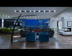 matt perry's hollowood hills living room