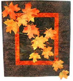 Cascading Leaves Wall Hanging Designed and made by Teresa White. This design is covered by copywrite.