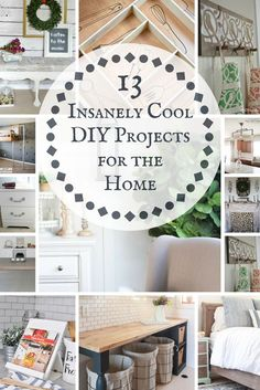 Check out these insanely cool DIY projects for the home.