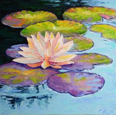 Lotus Painting on Canvas Monet Waterlily Painting on Canvas Poppy Field Painting, Water Lilies Painting, Pond Painting, Lotus Painting, Monet Water Lilies, Lily Painting, Flower Painting Canvas, Claude Monet, Monet Paintings