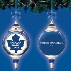 Toronto Maple Leafs hockey holiday Christmas ornament Maple Leafs Hockey, Holiday Ornaments, Holiday Decor, Toronto Photography, Nhl Logos, Toronto Maple Leafs, Montreal Canadiens, Christmas Holidays, Leaves