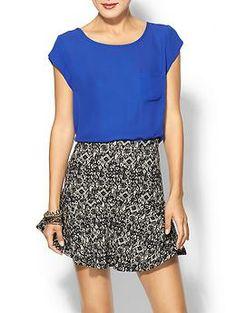 Joie Rancher Silk Short Sleeve Pocket Top | Piperlime