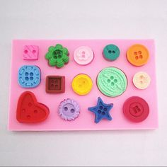 I pulsanti in silicone che decora muffa di cottura della Sugarcraft Troppo