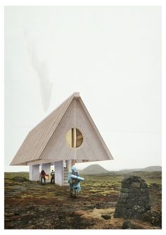 Architecture competition organizer Bee Breeders has announced the winners of the international Iceland Trekking Cabins competition, which called for. A Frame Cabin, A Frame House, Bungalows, Cabin Design, House Design, Iceland House, Unusual Buildings, Lombok, Cabin Homes
