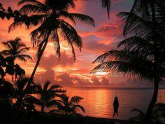 Sunrise in Ambergris Caye, Belize