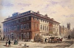 Old House in New Street Square, South East Front (w/c on paper) Wall Art & Canvas Prints by Thomas Hosmer Shepherd
