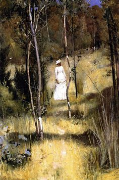 A Summer Morning Tiff, painting by Tom Roberts - An Art History of Australia - Culture Victoria Australian Painting, Australian Artists, Hans Thoma, Art Database, Oeuvre D'art, Art History, Painting & Drawing, Landscape Paintings, Art Gallery