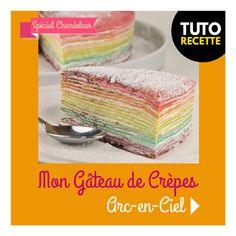 RentréeDiscount - Le Blog : RECETTE : Mon gâteau de crêpes Arc-en-Ciel pour la Chandeleur Crepes, Cantaloupe, Desserts, Food, Skewers, Juice, Tailgate Desserts, Deserts, Essen