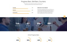This multipage HTML template will be ideal for either corporal or creative project! Responsive design, different pre-made layouts and efficient tech support! Progress Bar, Cabinet Space, Html Templates, Website Template, Positivity, Projects, Design, Closet Space, Log Projects