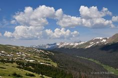 The 'Never Summer' Range, Rocky Mountain National Park, Colorado ~ by B N Sullivan