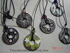 More washer necklaces! I'm becoming obsessed with these. I just bought a bunch of metal washers to use for a piece of sculptural art that's been stuck in my mind for awhile. If it doesn't work out, I'm making these!