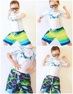 Getting ready for swimming season the searsStyle way! Their children's line has awesome mix and match styles--love this shark set that every little boy would want! #ThisisStyle #shop