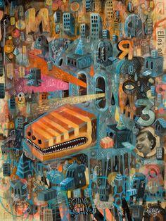 Recent Paintings ( 2010 ) part 2 by Seb NIARK1 FERAUT, via Behance