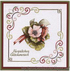 Petras Kartenkreationen : Aus dem neuen 3D Card Embroidery Sheets Series 2