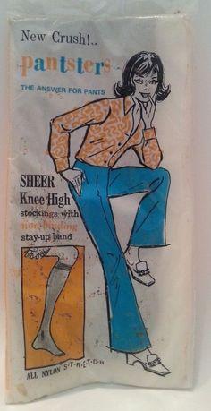 34bcc6c26c4 Vintage 1970s New Crush Pantsters Sheer Knee High Stockings Brown (NOS) Knee  High Stockings