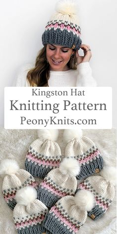 A beautiful fair isle beanie knitting pattern. Knitting patterns available on peonyknits.com. A PeonyKnits™ original design. Pattern SALE › Buy 3 get 2 FREE on all patterns- use code BUY3GET2