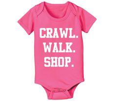 CRAWL WALK SHOP onesie
