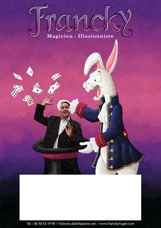 Affiche du spectacle de magie de Francky le magicien