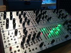 #diy #synthesizer #eurorack #panels built by Rico Loverde. This is the most complete system of my panels built yet!