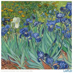 """Art inspiration of the week: """"Irises"""" by Vincent van Gogh, 1889. #spring #springstyle #iris #irises #painting #vangogh #floralinspiration #inspiredbynature #classic  #findyourinnerexpression #LAFLO"""