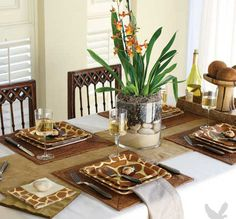 Animal Print Tableware-centerpiece...make one for bedroom