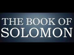 The Song Of Solomon Or The Canticle Of Canticles, The Holy Bible, Complete Audiobook Book Of Solomon, Book Of Proverbs, Hebrew Bible, Audio Books, The Book, Blessed, Faith, Peace, Songs