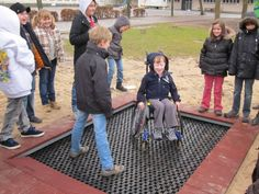 Trampoline for Wheelchair users. >>> See it. Believe it. Do it. Watch thousands of spinal cord injury videos at SPINALpedia.com