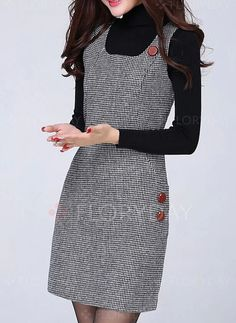 Latest fashion trends in women's Dresses. Shop online for fashionable ladies' Dresses at Floryday - your favourite high street store. Cute Skirt Outfits, Dress Outfits, Fashion Dresses, Girl Dress Patterns, Dress Making Patterns, Simple Dresses, Casual Dresses, Dresses With Sleeves, Look Fashion