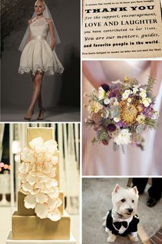 Purple and Gold, New Year's Eve Wedding Inspiration | WeddingWire: The Blog
