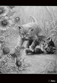 Dit plaatje heb ik gekozen, omdat ik een kat in een bos wil tekenen.