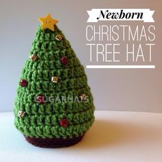 Christmas Tree Hat ... by Sugar Babies | Crocheting Pattern - Looking for your next project? You're going to love Christmas Tree Hat - Newborn by designer Sugar Babies. - via @Craftsy