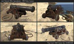 ArtStation - Pirate Cannon 3D PBR Model, Jack Edwards