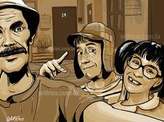 Chaves, Chiquinha e Seu Madruga por Will Rios | El Chavo del 8