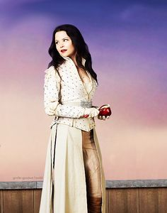 Snow White once upon a time. I loved this snow white costume. Maybe this might be next year Halloween costume