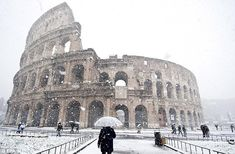 Snow in Rome is horrible for the Colosseum, but it does look pretty.