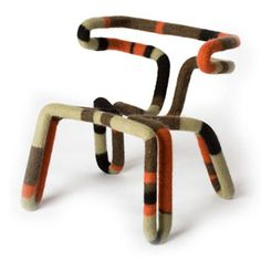"""Brent Cordner and Dave Kral """"In the Round"""" felt chair"""