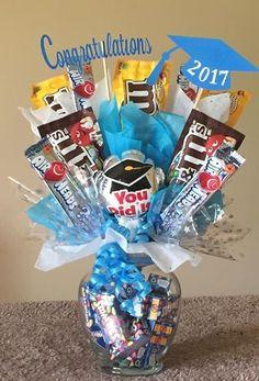 PinWire Valentine& Day Gift Ideas: 25 Best Bouquet Ideas on Gift Card Bouquet, Candy Bouquet Diy, Candy Boquets, Graduation Bouquet, Diy Graduation Gifts, Candy Lays For Graduation, Candy Gift Baskets, Raffle Baskets, 17th Birthday Gifts
