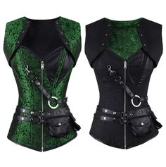 Winnifred Gothic Overbust Reversible Corset