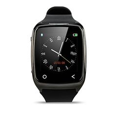 VITKA Time i8 154 Smart Watch Phone Mate Bluetooth for Samsung S5 S4 iPhone 5 5s 6 HTCBlack >>> You can get additional details at the image link.Note:It is affiliate link to Amazon. #likeme