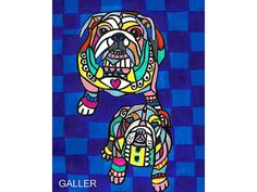 50% Off - Bulldog Angel Art Print Poster by Heather Galler (HG76947) Dog
