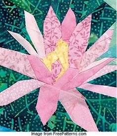 Water lily paper pieced block designed by Linda Causee