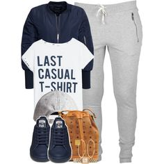 Last casual t-shirt. by cheerstostyle on Polyvore featuring MANGO, VILA, MCM, Marc by Marc Jacobs, River Island and H&M