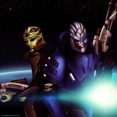 Mass Effect: Thane and Garrus by Zellie669.deviantart.com on @deviantART