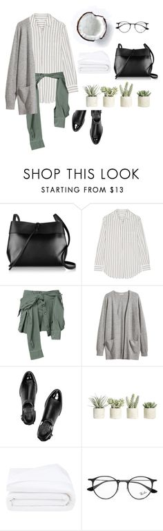 """""""Untitled #34"""" by shilat-yifrach ❤ liked on Polyvore featuring Kara, Equipment, Faith Connexion, H&M, Alexander Wang, Allstate Floral, Frette and Ray-Ban"""