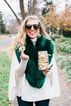 Third Annual Cookie Exchange | Christmas Cookie Recipes, Cranberry Shortbread Cookies | Louella Reese Dessert Cake Recipes, Cookie Recipes, Cranberry Shortbread Cookies, Style Blog, My Style, Brookies, Classic Wardrobe, Cookie Exchange, Christmas Cookies